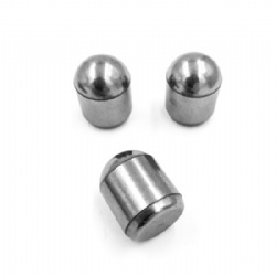 Tungsten carbide spherical buttons
